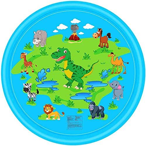 Tapis Premium Water Saupoudrez et Splash Tapis de jeu Tapis de gicleurs Jouets gonflables eau Jeux Splash Pad for les enfants tout-petits Idéal for Cool Activités de plein air La croissance de stimula