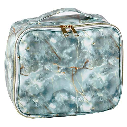 Fashion Women's Makeup Bag Simple Printed Organizer Travel Cosmetic Bag Case Portable Large Capacity Toiletry Bag greenA
