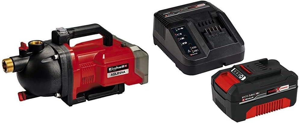 Einhell AQUINNA Power X-Change, Bomba de jardín a batería (2 x 18V, interruptor ECO de 2 escalo...