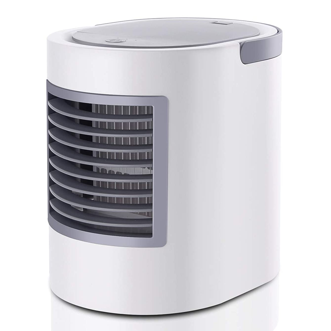 RundA Space Cooler Fan, [Newest 2019] Personal Air Conditioner Cooler Fan with 480ml Water Tank, Portable Water Cooler Fan Humidifiers Featured Colorful Light for Bedroom, Living Room, Office