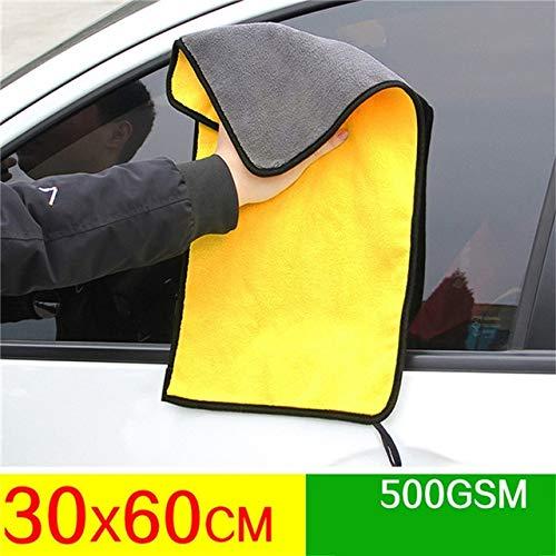 Mdsfe Super absorberende microvezel handdoek auto schoonmaken en drogen doek grote 30 x 30 / 60 cm droge handdoek zelfstoponderhoud - 30 x 60 cm
