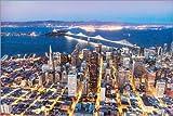 Poster 100 x 70 cm: Luftaufnahme: San Francisco Innenstadt