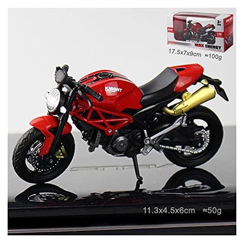 1:18 Mini Modelo Motorycle Diecast Pocket Portable Dedo Mountain Bike Off-Road Vehicle Simulación Colección Juguetes para niños (Color : Rosado)