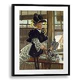 Printed Paintings Passepartout (60x80cm): James Tissot - Té