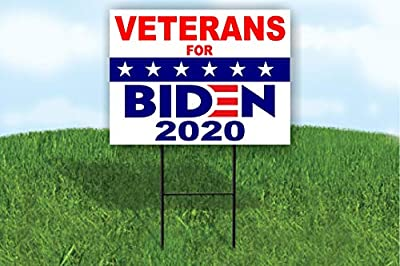 Work House Signs Veterans for Biden 2020 Joe Biden Political Yard Sign Road Sign with Stand