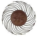 Siena Garden Wandbild Mond, Metall bronze, Durchmesser 67 cm, braun