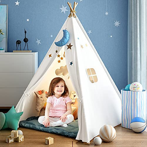 Kids Teepee Tent for Girls or Boys with Carry Case, Foldable Play Tent for Kids or Toddler Suit for...