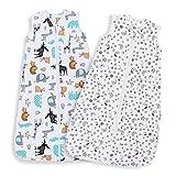 Lictin Schlafsack Baby Sommerschlafsack Babyschlafsack Einstellbar 70-90cm...