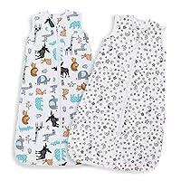 Couverture Bébé en Coton Biologique: tissu doux et confortable pour créer un environnement de sommeil sûr pour votre bébé, adapté à une température entre 18 et 24 Couvertures bébé à porter avec un design à 2 fermetures à glissière, pratiques pour cha...