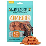 Natures Deli Chicken Chips Dog Treats - Low Fat, Nutritious, Gluten Free, High Protein Snack - 100g