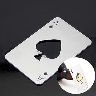 Ace Of Spades - Heroneo Playing Card Ace Of Spades Poker Bar Soda Beer Bottle Cap Opener Xmas Gift - Plate Motorhead Trowel License Lanyard Bennett Light Deck Gold Destiny