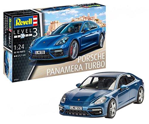 Revell Maqueta Porsche Panamera Turbo, Kit Modelo, Escala 1: