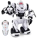 YARMOSHI- Remote Control Smart Robot Toy - Big Calvin, Flexible Moving Body, Whirls, Dances,12.6x6.3x15.2 Inches, Fun Gift for Girls and Boys. Age 5+
