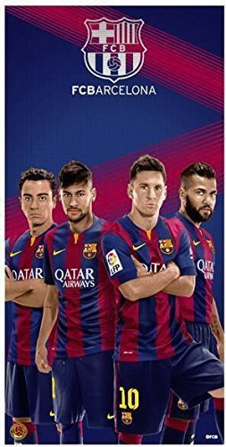 FCB Toalla de playa del equipo de fútbol de Barcelona, cuatro jugadores por FCB