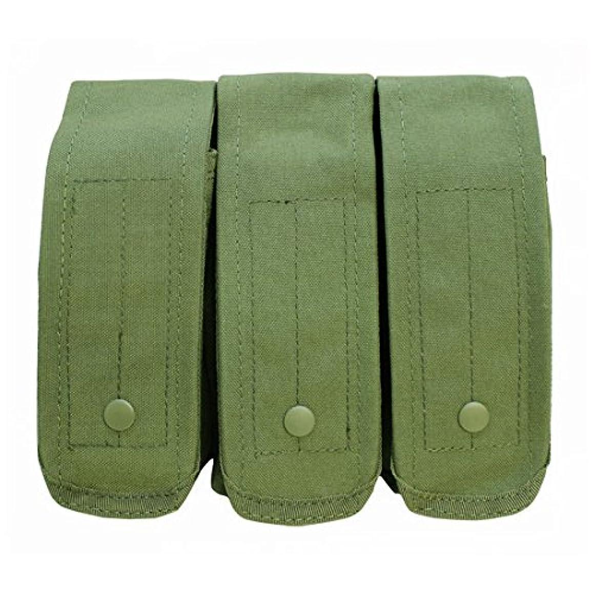 Tactical OD GREEN AK AR Triple 7.62 5.56 Mag Pouch Trio 3 Clip PALS Bag Holder