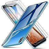 AROYI Cover Xiaomi Redmi 7A Custodia + 2 X Pellicola Protettiva, Morbido Trasparente Silicone...