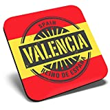 Gran posavasos cuadrado – Valencia España Reino de España Travel   Posavasos de calidad brillante   Protección de mesa para cualquier tipo de mesa #6015