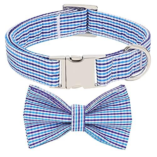 XIAOWU Hundehalsband mit Fliege Niedliches Hundehalsband mit Aluschnalle Verstellbares Hundehalsbänder für kleine mittelgroße Hunde Katzen