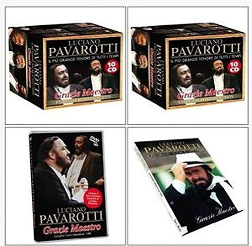 Complete behuizing met 10 cd's en 1 dvd voor koffer Luciano Parariotti Thank Maestro
