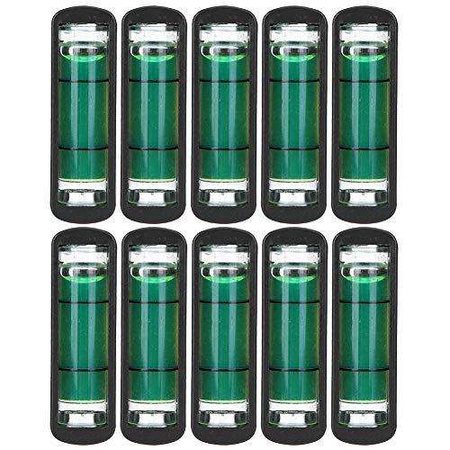RiToEasysports Paquete de 10 Niveles de Burbuja Cuadrados de Burbuja de Nivel de Alta precisión para trípodes, máquinas, Colgar Cuadros