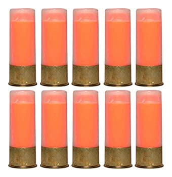 St Action Pro 12GA Gauge Shotgun Safety Trainer Cartridge Dummy Shell Rounds with Brass Case Orange 10 Pack