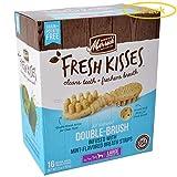 Merrick Fresh Kisses Mint Double-Brush Dental Treats - Large 16 Count - Pack of 3
