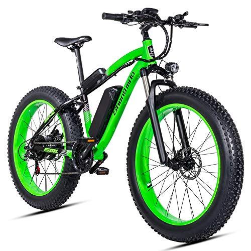 Shengmilo e Bike Elektrofahrräder 26 Zoll 4.0 Fat Tire ebike Electric MTB Mountainbike Herren Damen 1000W 48V Moto Shimano 21 Speed Doppelte Hydraulische Scheibenbremse