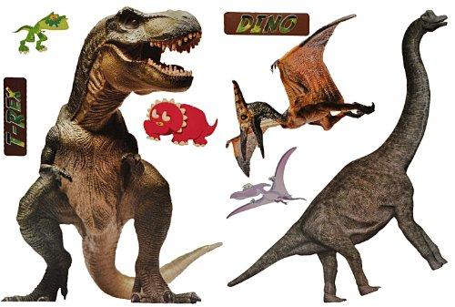 alles-meine.de GmbH XXL Wandtattoo / Sticker - 70 cm Dinosaurier Tyrannosaurus Rex Dino Dinos Pteranodon Flugsaurier - Wandsticker Aufkleber