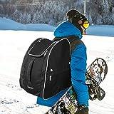 CLISPEED Skischuhtasche Helmtasche Extra Großer Skitaschen Skiausrüstungsrucksack