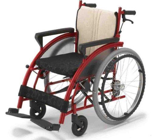 フランスベッド メディカルサービス リハテック シリーズ nomoca (のもか) 車椅子 レッド色