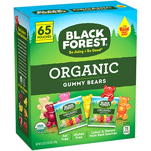 Black Forest Organic Gummy Bears Candy 08Ounce Bag  65 Count Pack of 1