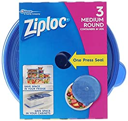 Ziploc Food Storage Container, Round, (Pack of 3)