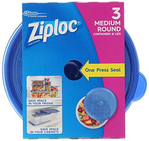 Ziploc Container Medium Round, 3 Ct