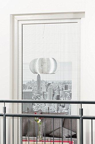 empasa Insektenschutz Fliegengitter Gewebe mit Klettband für Fenster Tür Französischer Balkon 130 x 220 cm ohne Bohren und Schrauben