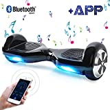 Windgoo Hoverboard 6.5' Balance Board Patinete Elctrico Scooter Talla LED 250W*2 (Black)