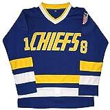 Camiseta Micjersey Hanson Brothers de Charlestown Chiefs 16,17,18 Slap Shot de la película de hockey sobre hielo -  Azul -  XX-Large