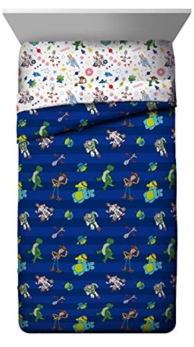 Disney Toy Story Buzz & Woody Full Comforter - Super Soft Kids Reversible Bedding - Fade Resistant Microfiber (Official Disney Product)