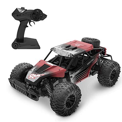 DEERC RC Ferngesteuertes Auto DE37 Wasserdicht Car 1:16 Spielzeug mit 2,4 Ghz Fernbedienung,Lange Fahrzeit,High Speed Rennauto Outdoor und Indoor Fahrzeug Modell für Kinder, Mädchen