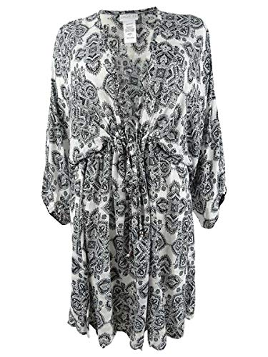 Dotti Plus Size Positano Tiles Tunic Cover-Up Black/White 1X
