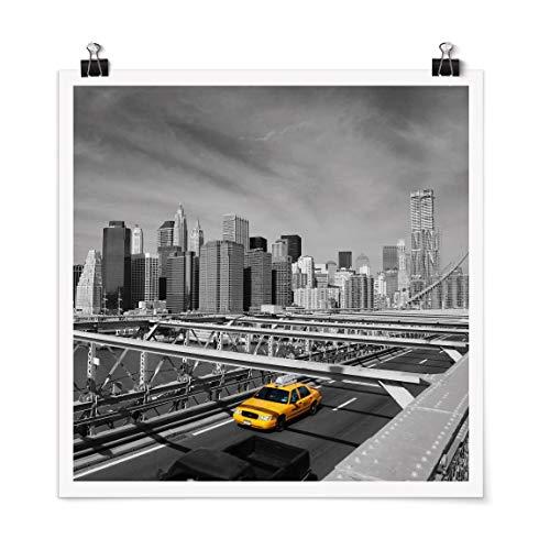 Bilderwelten Poster - Taxi Trip to The Other Side Carré Fini satiné Autocollant 70 x 70cm