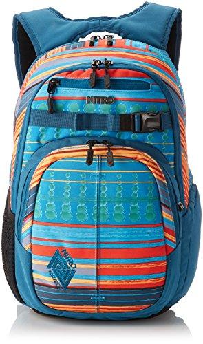 Nitro Chase Rucksack, Schulrucksack mit Organizer, Schoolbag, Daypack mit 17 Zoll Laptopfach,  Canyon