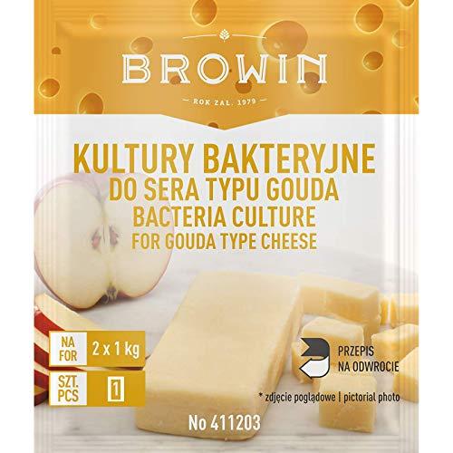 Fermenti per Formaggio Gouda 2g / 2 kg Gouda / 20 l di Latte - Coltura liofilizzata | Starter per Formaggio | Produzione Formaggio