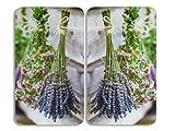 WENKO 2521448500 Herdabdeckplatte Universal Lavendel-Strauß - 2er Set