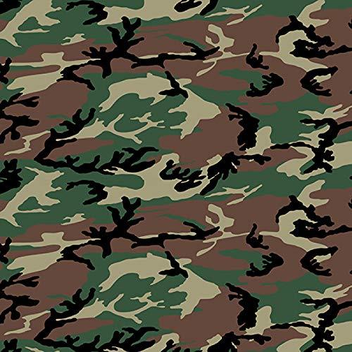 Camouflage Pattern Vinyl Permanent Adhesive Craft Vinyl Camo Print Patterns 12 x 12 (5A, 1)
