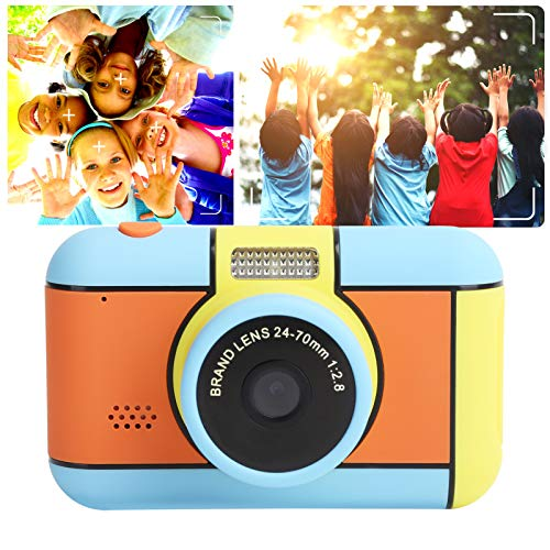 Juguetes de cámara, pantalla IPS de cámara digital para niños de doble lente para regalo