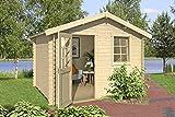 Lasita Maja Gartenhaus Aktion 36 mit Einzeltür und Einzelfenster I Wandstärke 28 mm