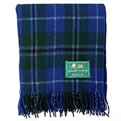 The Scotland Kilt Company Large Wool Tartan Scottish Throw Rug - Range of Tartans/Colours