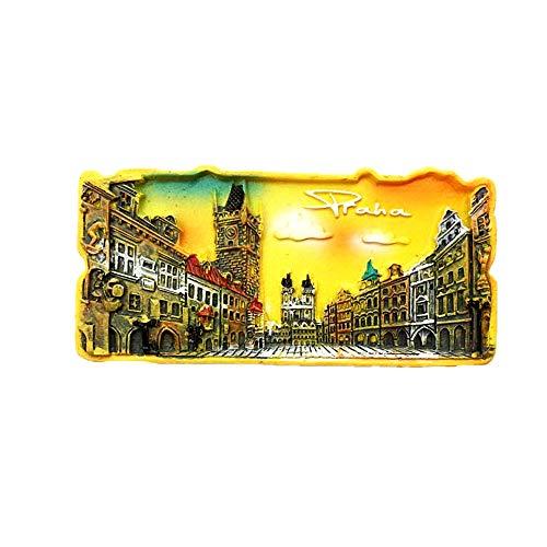 Praga Repubblica Ceca 3D viaggio souvenir regalo frigorifero magnete casa e cucina Decor Polyresin Craft frigorifero magnete collezione