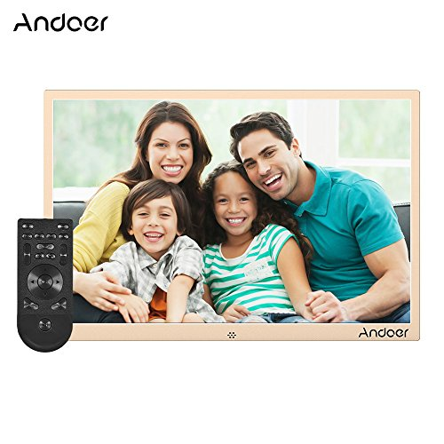 puissant Cadre photo numérique Andoer 15,4 pouces, cadre en aluminium numérique 1280 * 800…