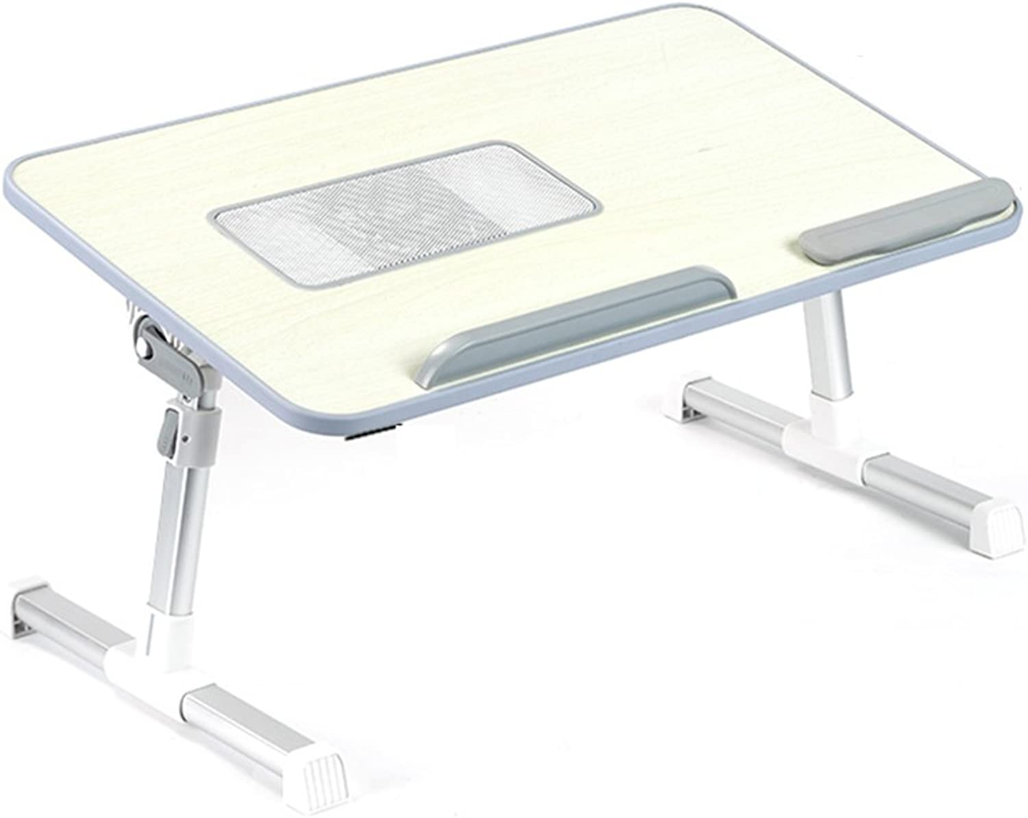 PENGFEI Laptop Stand for Desk Foldable Lazy Bed Table Portable Can Be Raised and Lowered Desktop Can Be Tilted with Cooling Fan College Students Dorm Room, Artificial Board 2 Sizes